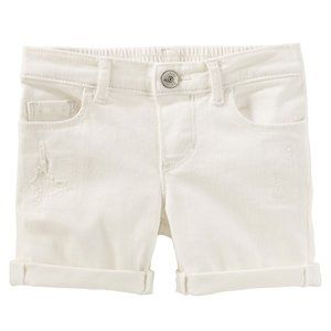 OshKosh White Distressed Denim Bermuda Shorts
